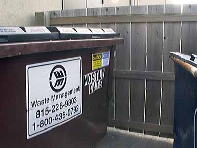 Mostly Cats Veterinary Clinic Dumpster