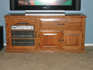 After: Modified entertainment center.