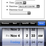 iOS 5 Safari HTML5 native date and time picker
