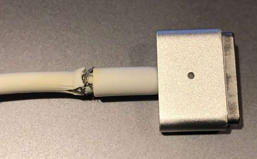 A MagSafe Cable Repair Embedded in a 3D Print